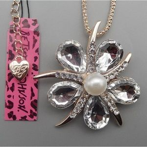 Betsey Johnson floral necklace, NWT